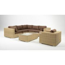 Mobília do Rattan vime jardim Lounge sofá conjunto pátio ao ar livre