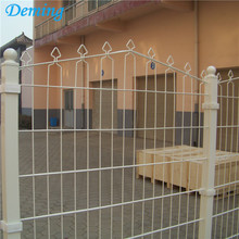 PE Coated Nyaste Design Metal Prestige Dubbelt Wire Fence