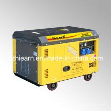 10kw refrigerado por aire de dos cilindros de tipo silencioso tipo generador diesel (DG15000SE)