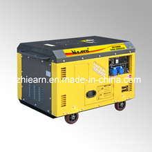 10kw Air-Cooled Two Cylinder Silent Type Diesel Generator Set (DG15000SE)