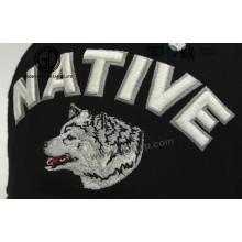 Remiendo del bordado de la aduana 3D del lobo de los animales de la manera para la ropa y el casquillo