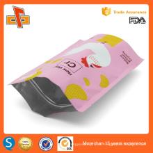 Impresión OEM de plástico laminado de pie reutilizable ziplock doypack