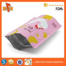 OEM printing laminated plastic standing reusable ziplock doypack
