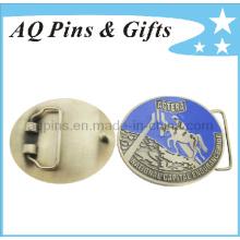 Forme a correia de cinto militar dos homens com esmalte duro (fivela-002 do cinto)
