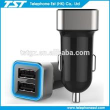 Das verkaufende beste 2 Hafen USB-Auto-Aufladeeinheit für intelligentes Telefon / iphone