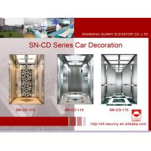 Carro do elevador do passageiro com o painel médio do Etching da linha fina (SN-CD-113)