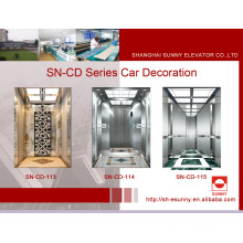 Carro do elevador do passageiro com o painel médio do registro da linha fina (SN-CD-113)