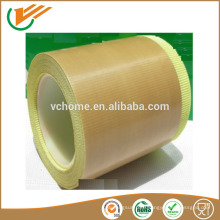 Silicone Adhesive Single coated fiberglass ptfe tape With ISO SGS Certifications with Strong adhesive