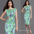 Women Summer Floral Printed Flower Casual Tunic Bodycon Dress Office Dress