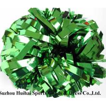 Металлические зеленые Помпоны