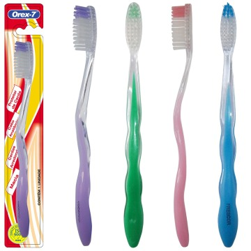 Transparent Nylon Adult Toothbrush