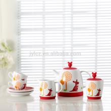 Diseño único juego de té de porcelana moderna