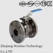 Válvula de bola de acero al carbono con bridas 2PC con almohadilla de enganche directo