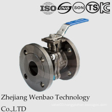 2PC Flanged Carbon Steel Ball Valve with Direct Mouting Pad