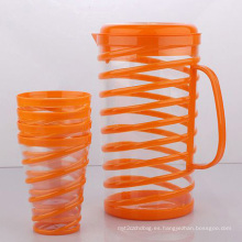 Enfriador de agua de plástico / jarra con tazas (LFR2477)