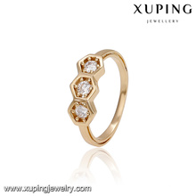 14308 Fashion jewelry copper alloy ring, latest 18k gold color ring designs for girls
