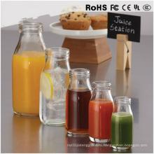 Мини прозрачный стеклянный сок молочного стекла Стеклянная бутылка соевого соуса
