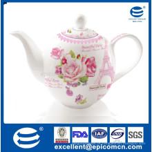 Pote de chá de cerâmica em estilo inglês 1200ml