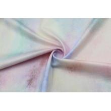 Tecidos de folha elástica de poliéster elástico lustroso e elástico