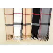 Bufanda / mantón calientes comprobados de acrílico de la tela escocesa de la nueva manera