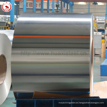 Non-Secondary Costo-Eficaz Oil Can Usado 5.6 / 5.6gsm EN10212 Placa de estaño de bobina para contenedores de fórmula infantil