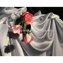 Pinturas al óleo de la elegancia brillante de la flor