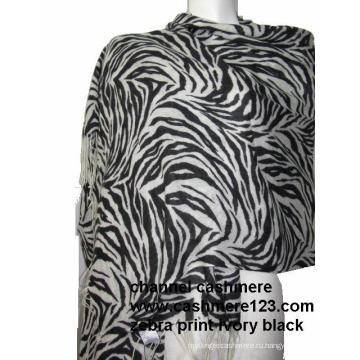 Zebra Print Кашемировый платок