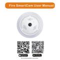 Câmera IP sem fio WiFi WiFi com alarme de fumaça / incêndio perigoso