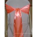 Casamento cadeiras decoração cor sólida faixa de cetim