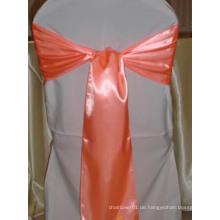 Hochzeit Stühle Dekoration Solid Color Satin Schärpe