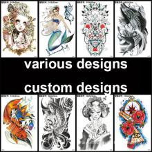 Amazon Hot Sale European and American Korean Version Explosion Waterproof Flower Arm Tattoo Stickers Tattoo Custom Tattoo Stickers