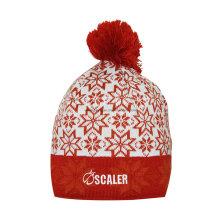 Invierno cálido de acrílico hecho punto Jacquard Beanie Skull Hat / Cap