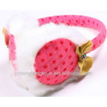 girl frend earcap plush ear cover pink earmuff