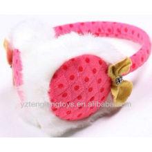 Девушка ухо пэр уха плюшевые ухо покрытия розовые наушники