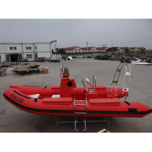 Bote de resgate inflável de carga pesada em fibra de vidro