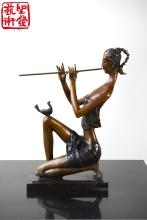 Modern Small Copper Female Arts Sculpture For Indoor Decorati