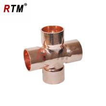 B 4 21 encaixe de cobre de montagem cruzada igual encaixe de cobre de 4 vias