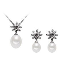 Ensemble de bijoux en perles naturelles en argent 925