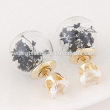 wholesale fashion jewelry korean vietnam glass bead wedding earrings