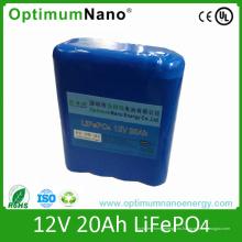 Batería de ión de litio de 12V 20ah para el carro de golf o la carretilla del golf