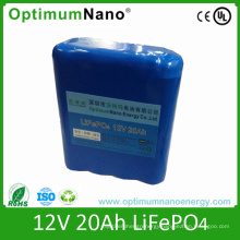 12V 20ah Lithium Ion Battery for Golf Cart or Golf Trolley