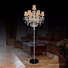 Candelabro de pé lindo lustre de cristal de teca dourada 20071