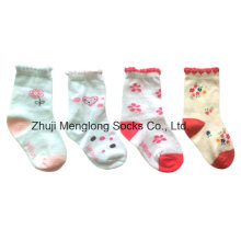 Cute and Good Quality Baby Cotton Socks with Nylon Covered Yarn
