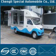 Caminhão de cozinha de caminhão de vendas de sorvete móvel