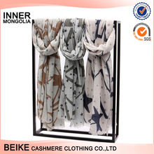 Best selling custom design Christmas Soft and Comfortable Cotton Scarf for wholesale
