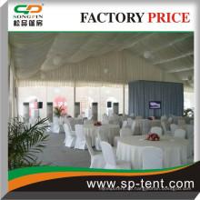 Festzelt-Party-Hochzeitszelt 15mx30m mit Innenverkleidungen für Hochzeitsfeiern im Freien