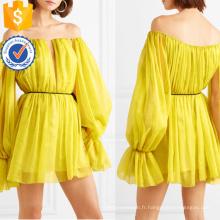 Nouvelle mode à manches longues hors-la-épaule en mousseline de soie mini robe d'été fabrication en gros de mode femmes vêtements (TA0292D)