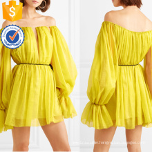 New Fashion Long Sleeve Off-The-Shoulder Chiffon Mini Summer Dress Manufacture Wholesale Fashion Women Apparel (TA0292D)