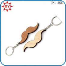 Kundenspezifische Schnurrbartform Holz Keychain