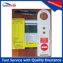 Etiquette d'echafaudage en plastique personnalisé et carte d'insertion